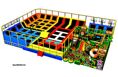 £449732 • Buy 15,500 Sqft Commercial Turnkey Trampoline Park Soft Play Playground We Finance