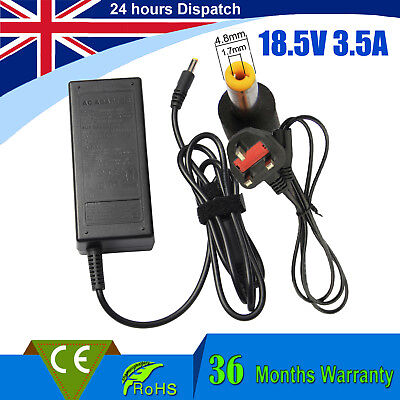 £9.99 • Buy 18.5v 3.5a 65w For Hp 550 620 625 510 530 G5000 G6000 Laptop Charger Ac Adapter#
