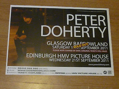 £7.19 • Buy Peter Doherty (The Libertines) - Glasgow/Edinburgh Sept.2011 Concert Gig Poster