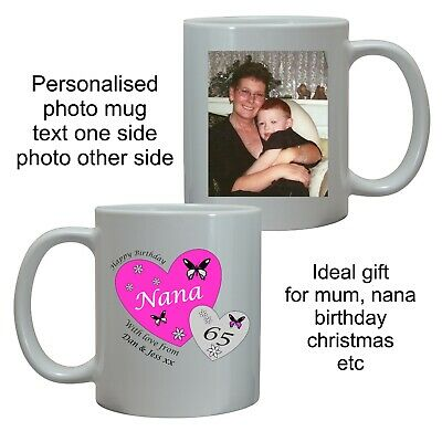 £8.95 • Buy PERSONALISED BIRTHDAY PHOTO GIFT MUG CUP FOR DAUGHTER MUM SISTER 40th 65th 80th