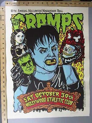 $75 • Buy 2004 Rock Concert Poster The Cramps Michael Motorcycle S/N LE # 391 Monster CA