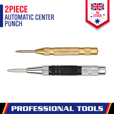 AU17.99 • Buy 125mm/155mm Automatic Centre Punch Adjustable Spring Loaded Metal Drill Tool