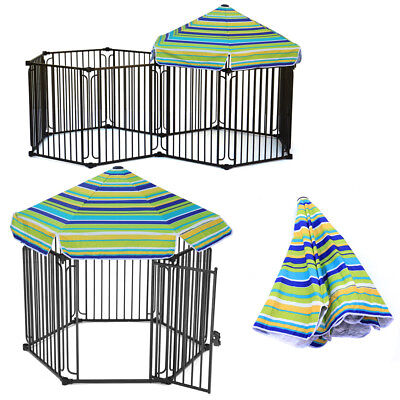 £169.95 • Buy Heavy Duty Steel Cage Pet Dog Kennel Crate Outdoor Gazebo Metal House With Roof