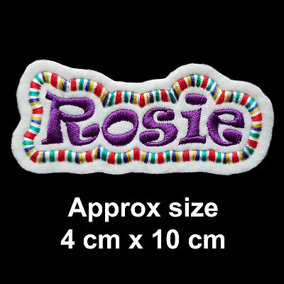 Embroidered Personalised Name Tag Patch With Multicoloured Border • 3.80£