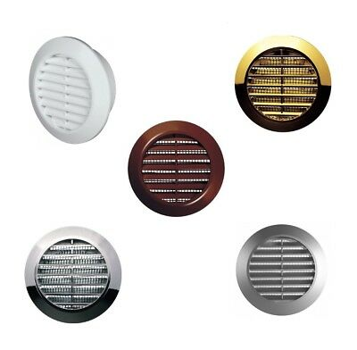 Mini Round Air Vent Grille 60mm With Flange And Fly Screen Ventilation Cover • 3.59£