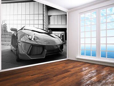 £21.99 • Buy Fast Sports Car-urban Style Black And White Photo Wallpaper Wall Mural(64703073)