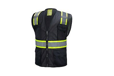 £8.50 • Buy Black Two Tones Safety Vest ,With Multi-Pocket Tool