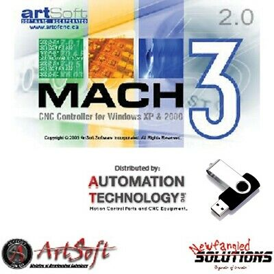 $169 • Buy Fully Licensed Mach3 CNC Software By Artsoft Control CNC Machines, Mail A CD