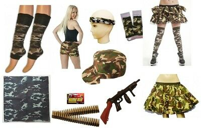 £2.25 • Buy Army Military Camouflage Fancy Dress Costume Accessories Men Ladies Hen Stag.