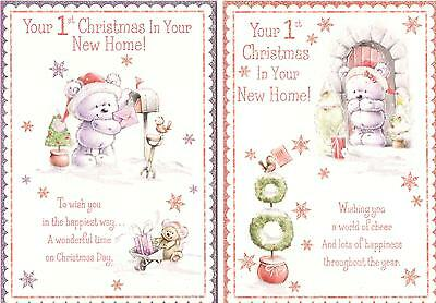 1st Christmas In Your New Home Card. Various Designs Available Quality Cards • 2.09£