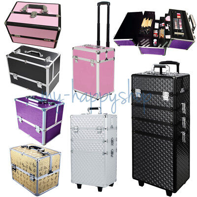 Cosmetic Make Up Makeup Artist Professional Trolley Carry Case Top Organizer Box • 55.95£