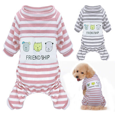 £8.49 • Buy Cozy Dog Pajamas Clothes Jumpsuit Sleepwear For Small Medium Dogs Cats Clothes