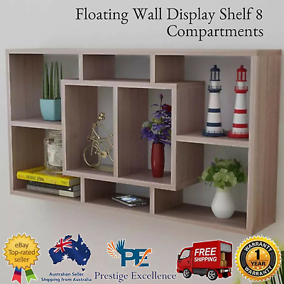 AU89.20 • Buy Book CD Storage Shop Display Shelf Wall Mount Floating Cube 8 Shelves Ornaments