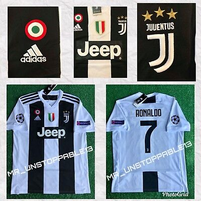 009333659 ADIDAS ☀ Juventus ☀ Cristiano Ronaldo ☀︎Champions League Patches ☀HOME  JERSEY •