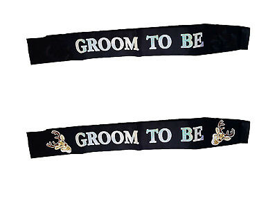 £5.49 • Buy Groom To Be Sash Party Stag Do Stag Night Bachelor Party Accessories Black White