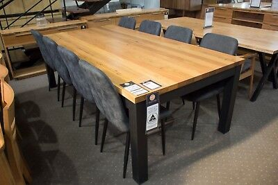AU2699 • Buy Roseville - 2400mm Solid Messmate Dining Table With 8 Dining Chairs