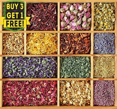 Various Dried Flowers & Petals For Crafts Bath Bombs Candle Potpourri Confetti • 1.42£