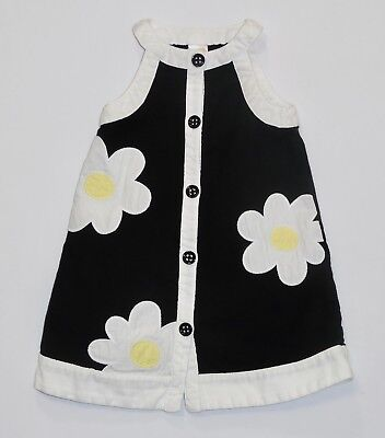 $16.99 • Buy Gymboree  Bee Chic  Mod White Daisy Flower Black Pique Sleeveless Dress, 3T