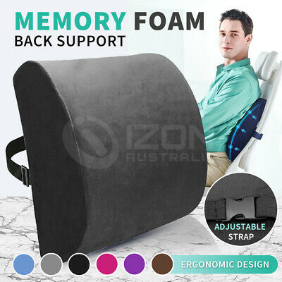 AU17.58 • Buy Memory Foam Lumbar Back Pillow Support Back Cushion Home Office Car Seat Chair