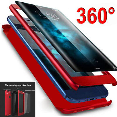 AU3.21 • Buy Shockproof Hybrid 360 Case+Tempered Glass For Samsung Galaxy A6 Plus J4 J6 Cover