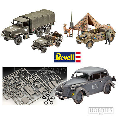 Revell WWII Model Vehicle Kits 1/35 Scale German American Trucks Cars Jeeps • 27.99£