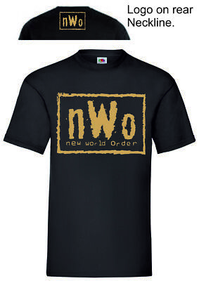 $ CDN17.10 • Buy Gold NWo T-Shirt Wrestling Tee WCW WWF Vest