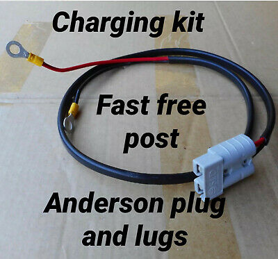 AU61.59 • Buy 6 Meter Caravan/camper Trailer Charging Kit Anderson Plug 8m Lugs Ready To Use