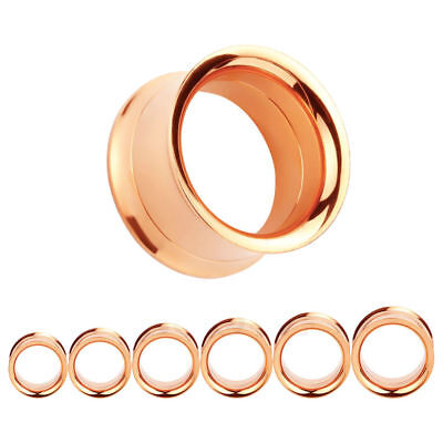 AU7.40 • Buy ROSE GOLD Stainless Steel Screw Ear Tunnels Piercing Jewellery Plugs TU174