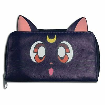 $26.49 • Buy Sailor Moon NEW * Luna Wallet * Cat Zippered Case Officially Licensed Purse