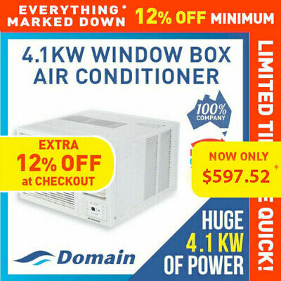 AU610 • Buy New Domain 4.1kw Window Wall Box Reverse Cycle Refrigerated Air Conditioner