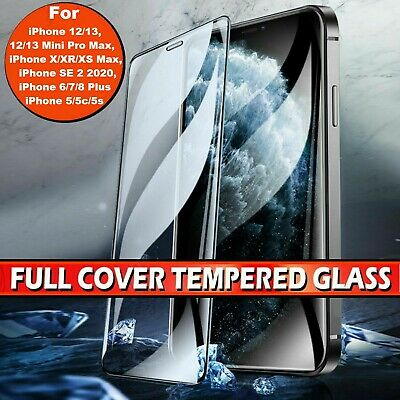 3D Tempered Glass SCREEN PROTECTOR IPhone X XR 11 12 PRO MAX 6/7/8+ FULL COVER • 2.19£
