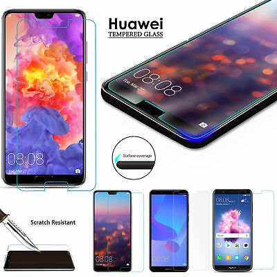 FOR Huawei P20 P30 P40 Pro Lite Protection Tempered Glass Screen Protector NEW • 2.29£