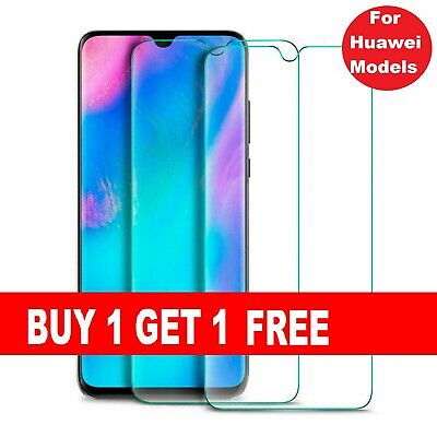 TEMPERED GLASS SCREEN PROTECTOR FOR HUAWEI P20 PRO P20 LITE P30 Pro Y6 Y7 Psmart • 2.89£