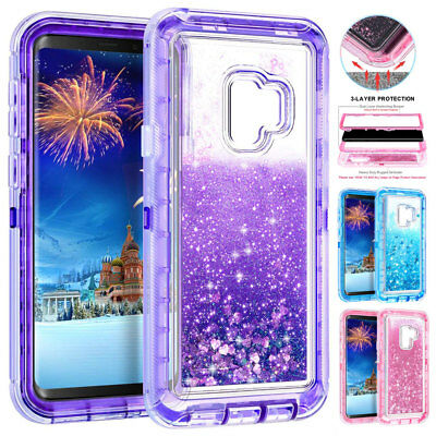 AU6.43 • Buy 360° Bling Sparkle Heavy Duty Case For Samsung Galaxy S10 S9 S8 Plus Armor Cover