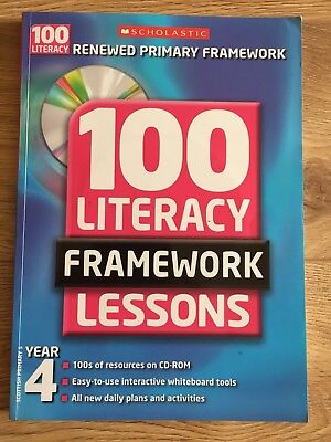 £6 • Buy 100 New Literacy Framework Lessons For Year 4 By Fiona Tomlinson, Jay Matthews,