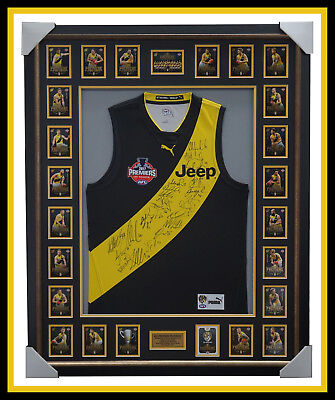AU2495 • Buy 2017 Afl Premiers Richmond Signed Official Grand Final Jumper Framed With Cards