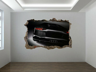 Fast Sports Car Photo Hole In Wall Sticker Wall Mural (61712985) • 8.99£