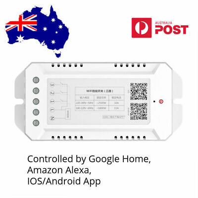 AU22 • Buy Smart Home WiFi Switch Module, Alexa, Google Home And IOS/Android APP, 2500W