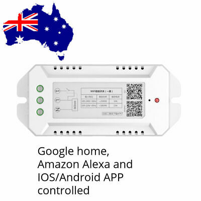 AU20.50 • Buy Smart Home WiFi Switch Module Alexa, Google Home And IOS/Android APP 2500W