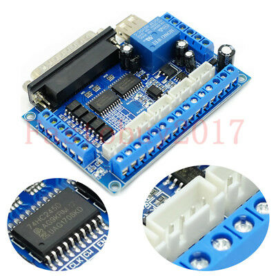 $13.31 • Buy 5 Axis USB MACH3 CNC Breakout Board Interface Stepper Driver Motion Controller