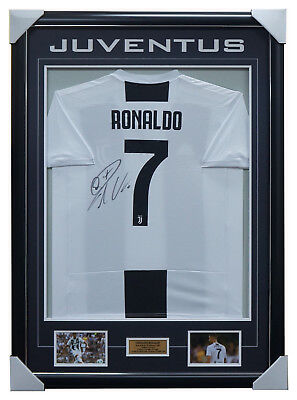 AU1295 • Buy Cristiano Ronaldo Signed Juventus Jersey Framed + COA 100% Authentic BRAND NEW