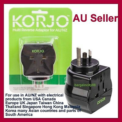 AU27.97 • Buy Universal Travel Adapter International UK USA EU To AU Australian OZ Power Plug