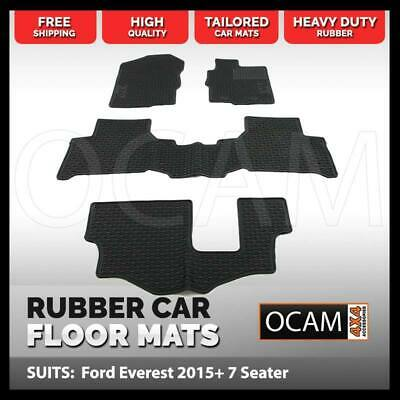 AU119 • Buy CMM Rubber Car Floor Mats For Ford Everest UA 2015-Current 7 Seater