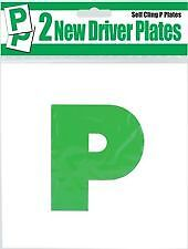 2 X Passed 'P' Plates Self Cling Flat Surface Stick Car Driving NEW Driver Green • 1.89£