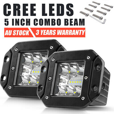 AU36.99 • Buy 2x 60W 4 Inch CREE LED Work Light Pods Spot Flush Mount Reverse Lamp Truck 5