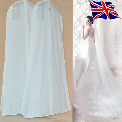 Breathable Long Dress Cover Zip Storage Bag For Bridal Wedding Gown Dress 180cm • 6.98£