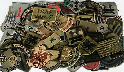 $37.67 • Buy Lot Of 60 Plus Assorted Military Army Air Force Unit Insignia Subdued Patches
