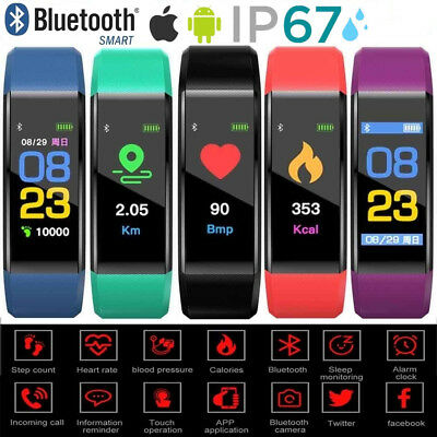 AU11.85 • Buy Bluetooth Smart Wristband Sport Watch Heart Rate Monitor Fit Activity Tracker AU