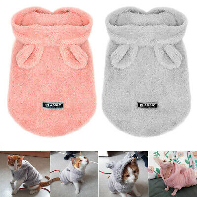 £6.79 • Buy Soft Fleece Dog Pajamas Chihuahua Clothes Hoodie Costume Coat Jacket For Puppy
