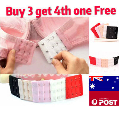 AU2.29 • Buy Clip On Bra Extender Plus Size Maternity 2 3 4 Hooks Strap Black White Nude Pink